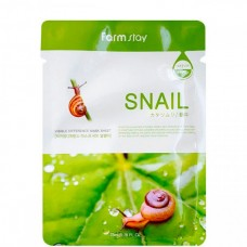 FarmStay Visible difference mask sheet Snail - Маска тканевая с муцином улитки 23мл