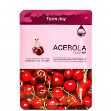 FarmStay Visible difference mask sheet Acerola - Маска тканевая с экстрактом ацеролы 23мл