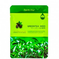 FarmStay Visible difference mask sheet green tea seed - Маска тканевая с экстрактом зеленого чая 23мл