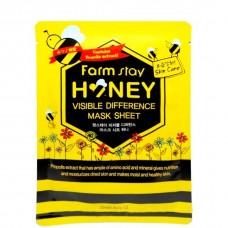 FarmStay Visible difference mask sheet honey - Маска тканевая с экстрактом меда 23мл