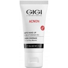 GIGI ACNON Matte Make-up - Тональный матирующий крем для проблемной кожи 30мл