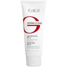GIGI DERMA CLEAR Cream Protective SPF15 - Увлажняющий защитный крем для проблемной кожи СЗФ 15, 75мл