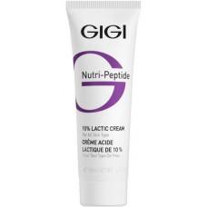 GIGI NUTRI-PEPTIDE 10% Lactic Cream - Крем пептидный увлажняющий для жирной и проблемной кожи 50мл