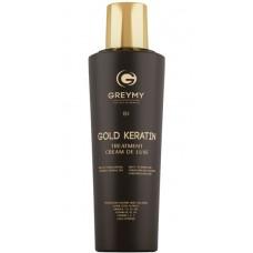 GREYMY GOLD KERATIN TREATMENT CREAM DE LUXE - Кератиновый крем с частицами золота 500мл