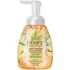 HEMPZ HERBAL Hand Wash Sweet Pineapple & Honey Melon - Гель-мусс увлажняющий для рук Ананас и Медовая Дыня 236мл