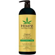 HEMPZ PURE HERBAL Original Shampoo For Damaged Color Treated Hair - Шампунь Оригинальный Увлажняющий для Поврежденных Окрашенных Волос 1000мл
