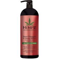 HEMPZ PURE HERBAL Sweet Pineapple & Honey Melon Volumizing Conditioner - Кондиционер растительный Ананас и Медовая Дыня для придания объёма 1000мл