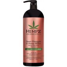 HEMPZ PURE HERBAL Sweet Pineapple & Honey Melon Volumizing Shampoo - Шампунь растительный Ананас и Медовая Дыня для придания объёма 1000мл