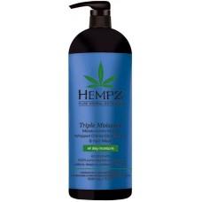 HEMPZ PURE HERBAL Triple Moisture Replenishing Conditioner - Кондиционер для Волос Тройное увлажнение 1000мл