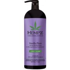 HEMPZ PURE HERBAL Vanilla Plum Herbal Moisturizing Conditioner - Кондиционер для Волос Укрепляющий Ваниль и Слива 1000мл