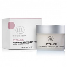Holy Land Vitalise Overnight Moisturizer Cream With Hyaluronic Acid - Ночной увлажняющий крем 50мл