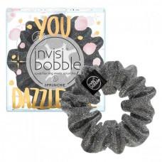 invisibobble SPRUNCHIE You Dazzle Me - Резинка-браслет для волос Серый с блестками 1шт
