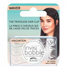 invisibobble WAVER Crystal Clear - Заколка для волос с подвесом 3шт