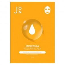 J:ON MOLECULA VOLCANIC Daily Essence Mask - Маска для лица тканевая с ВУЛКАНИЧЕСКИМ ПЕПЛОМ 23мл