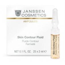 JANSSEN Cosmetics Ampoules Skin Contour Fluid Anti-age - Лифтинг-сыворотка в ампулах с пептидами, стимулирующими синтез эластина 7 х 2мл