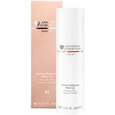 JANSSEN Cosmetics MAKE UP 01 Perfect Radiance Make Up - Стойкий тональный крем с UV-защитой SPF-15 для всех типов кожи (порцелан) 30мл