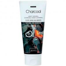 JIGOTT Natural сharcoal аoam сleansing - Очищающая пенка для лица с Углём 180мл