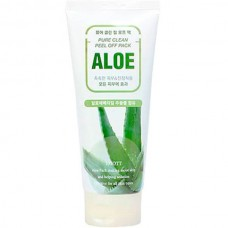 JIGOTT Pure clean peel off pack aloe - Маска-пленка для лица с экстрактом алоэ вера 180мл
