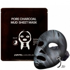 JJ Young PORE CHARCOAL MUD SHEET MASK - Маска глиняная от черных точек с углем 25мл