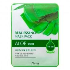 JUNO Real Essence Mask Pack ALOE - Маска тканевая с АЛОЭ 25мл