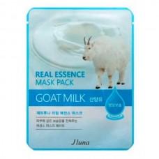 JUNO Real Essence Mask Pack GOAT MILK - Маска тканевая с КОЗЬИМ МОЛОКОМ 25мл