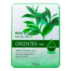 JUNO Real Essence Mask Pack GREEN TEA - Маска тканевая с ЗЕЛЁНЫМ ЧАЕМ 25мл