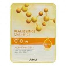 JUNO Real Essence Mask Pack Q10 - Маска тканевая с КОЗЕИНОМ 25мл