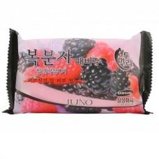 JUNO Sangtumeori RUDUS CORENUS SOAP - Мыло отшелушивающие с экстрактом корейской МАЛИНЫ 150гр