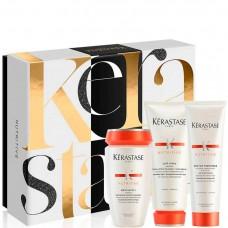Kerastase NUTRITIVE Luxury Gift Set - Новогодний набор (Шампунь-ванна Сатин 1 + Молочко для нормальных и сухих волос + Термо-защита для сухих и очень сухих волос) 250 + 200 + 150мл