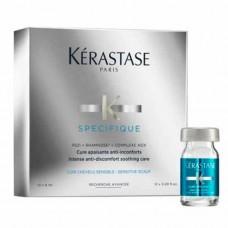 Kerastase Specifique Cure Apaisante - Ампулы для чувствительной кожи головы Апезан Керастас 12х6 мл