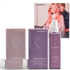 KEVIN.MURPHY sweet hydration Pack - Набор ИНТЕНСИВНОЕ УВЛАЖНЕНИЕ для волос (Шампунь + Кондиционер + Несмываемый кондиционер) 250 + 250 + 150мл