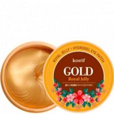 koelf GOLD Royal Jelly Hydro Gel Eye Patch - Гидрогелевые патчи с ЗОЛОТОМ и МАТОЧНЫМ МОЛОЧКОМ 60шт