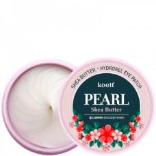 koelf PEARL Shea Butter Hydro Gel Eye Patch - Гидрогелевые патчи с маслом ШИ и ЖЕМЧУЖНОЙ ПУДРОЙ 60шт