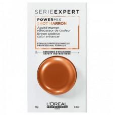 L'OREAL Professionnel POWERMIX SHOT MARRON - Флюид-добавка для волос КОРИЧНЕВЫЙ 15гр