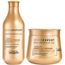 L'Oreal Professionnel ABSOLUT REPAIR LIPIDIUM KIT Masque + Shampoo - Набор ВЕСЕННИЙ Маска + Шампунь для повреждённых волос 250 + 300мл