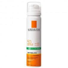 LA ROCHE-POSAY ANTHELIOS Invisible Anti-Shine Mist SPF50+ - Спрей-вуаль матирующий для лица СЗФ 50+, 75мл