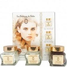 La Sultane de Saba ARGAN Gift Set - Подарочный набор для лица АРГАНА (Гоммаж + Крем + Маска) 50 + 50 + 50мл