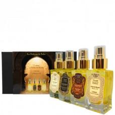 La Sultane de Saba Gift Set 4 Beauty Oil - Набор масел КРАСОТА ТЕЛА (Масло для тела Амбра/Мускус/Сантал + Масло для тела Апельсиновые цветы + Масло для тела Аюрведа + Масло для тела Лукум) 50 + 50 + 50 + 50мл