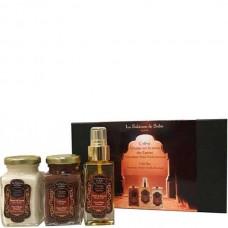 La Sultane de Saba Gift Set Ayurvedic Spices - Подарочный набор для тела Путешествие по дороге специй АЮРВЕДА (Масло для тела Аюрведа + Масло твердое ореха карите для тела Аюрведа + Гоммаж для тела Аюрведа) 50 + 100 + 100мл
