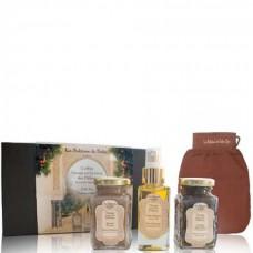 La Sultane de Saba Gift Set Hammam Ritual - Подарочный набор для тела ЦЕРЕМОНИЯ ХАММАМ (Черное мыло с Эвкалиптом + Масло для тела Апельсиновые цветы + Рассул + Кесса для тела) 100 + 100 + 50мл