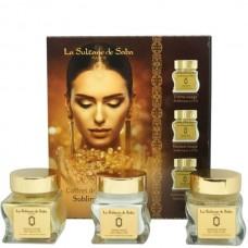 La Sultane de Saba GOLD Gift Set - Подарочный набор для лица ЗОЛОТО (Гоммаж + Крем + Маска) 50 + 50 + 50мл