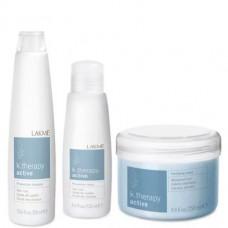 LAKME k.therapy Active Gift Pack - Набор средств от выпадения волос (шампунь, маска, лосьон) 300 + 250 + 125мл