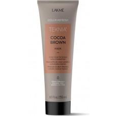 LAKME TEKNIA NEW! COLOR REFRESH COCOA BROWN MASK - Маска для обновления цвета коричневых оттенков волос 250мл