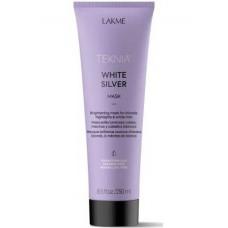 LAKME TEKNIA NEW! WHITE SILVER MASK - Тонирующая маска для нейтрализации желтого оттенка волос 250мл