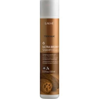 "LAKME TEKNIA Ultra Brown Shampoo - Шампунь для поддержания оттенка ""Коричневый"" 100мл"