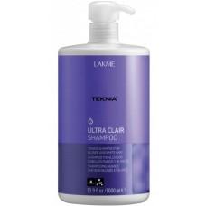 LAKME TEKNIA Ultra Clair Shampoo - Шампунь тонирующий для светлых оттенков волос 1000мл