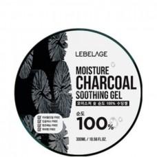 LEBELAGE Moisture Soothing Gel CHARCOAL 100% - Гель увлажняющий успокаивающий с УГЛЁМ 300мл