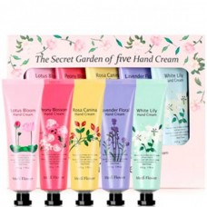Medi Flower The Secret Garden of five Hand Cream - Подарочный набор кремов для рук ЦВЕТОЧНЫЙ САД 5 х 50гр