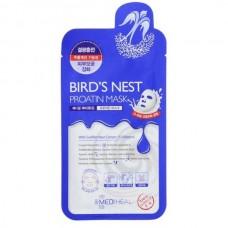 MEDIHEAL Bird's Nest Proatin Mask - Маска-лифтинг протеиновая с экстрактом ЛАСТОЧКИНОГО ГНЕЗДА 27мл