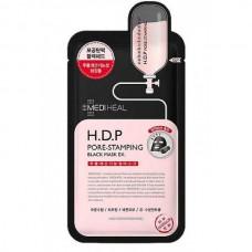 MEDIHEAL H.D.P Pore-Stamping Black Mask - Маска для лица тканевая очищающая с УГЛЁМ 25мл